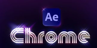 Create-Retro-Chrome-Type-in-After-Effects