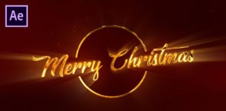 Glossy-Christmas-Greeting-Title-in-After-Effects-After-Effects-Tutorial