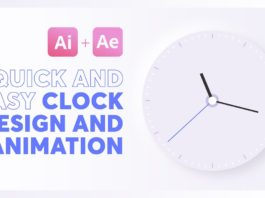 How-to-design-and-animate-a-Clock-IllustratorAfter-Effects-tutorial