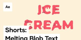 Melting-Ice-Cream-Text-Effect-In-After-Effects-Shorts