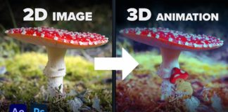 Make-a-3D-Animation-from-a-Single-2D-Image-Photoshop-amp-After-Effects-Tutorial