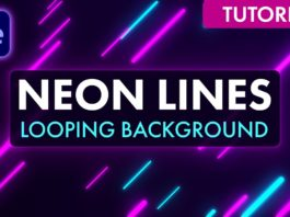 Quick-Neon-Lines-Looping-Background-After-Effects-Tutorial