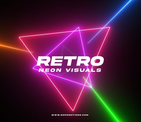 Retro-Neon-Visual-Motion-Graphics-in-After-Effects-with-Saber-Free-Plugin