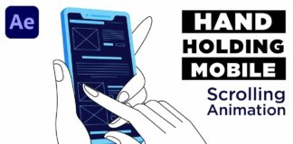 Hand-Holding-Mobile-Phone-amp-Scrolling-Browser-in-After-Effects-Tutorial